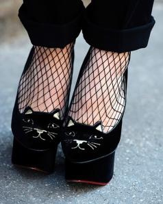 Zapatos cara de gato